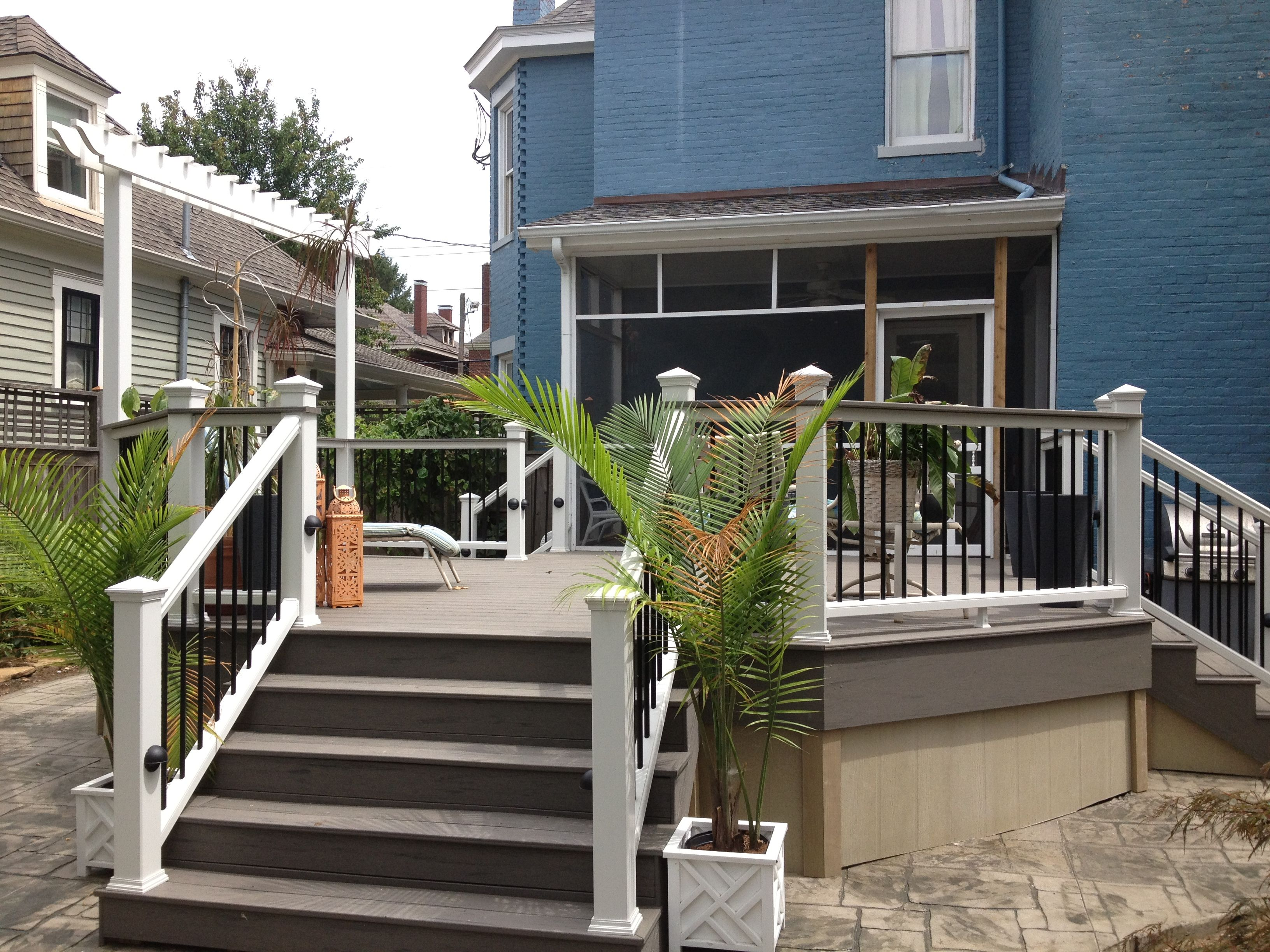 Terrain Decking And Stairs With A Transcends Railing With Black