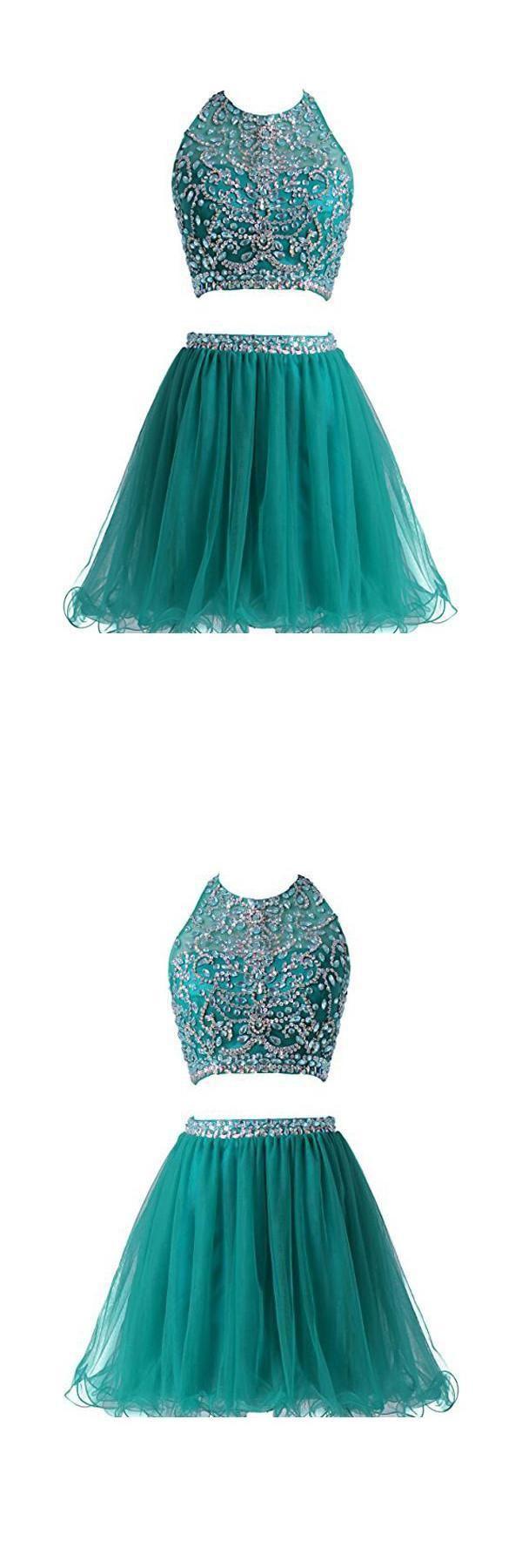 Prom dress short two pieces prom dress custom made prom dress