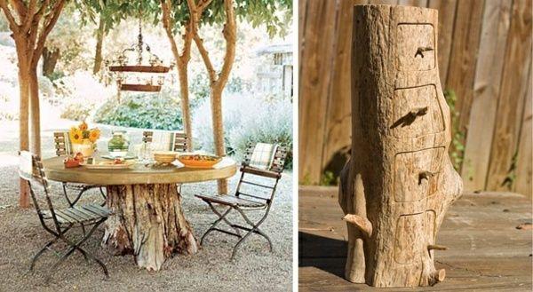 Deko Und Möbel Aus Baumstamm Selber Machen