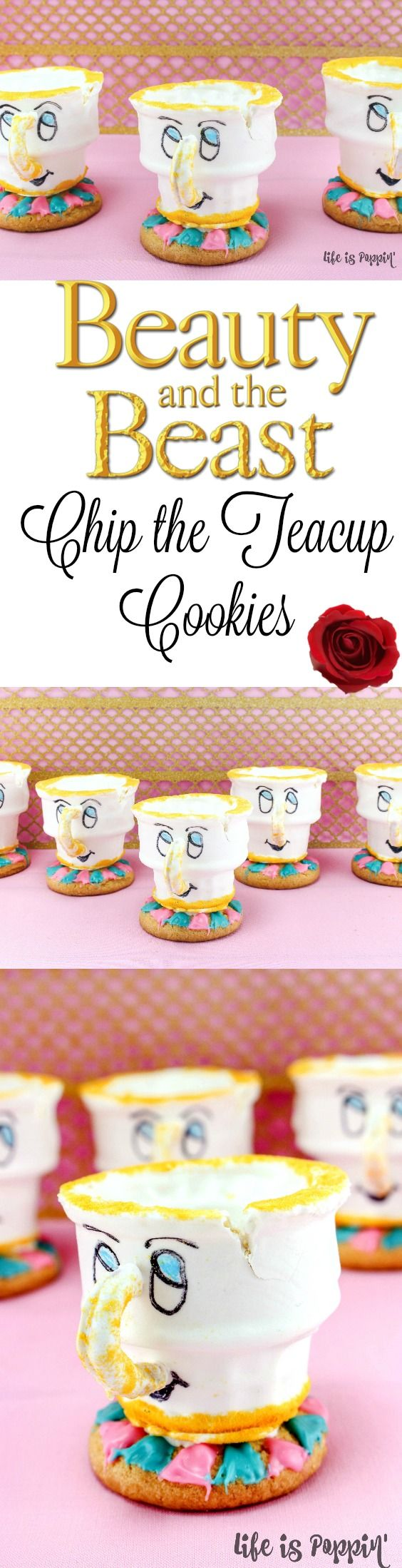 Calling all Disney fans! As many of you know, it's Beauty and the Beast month and we are celebrating with these adorable Chip the Teacup cookies!   http://lifeispoppin.com/beauty-and-the-beast-cookies-chip-the-teacup/