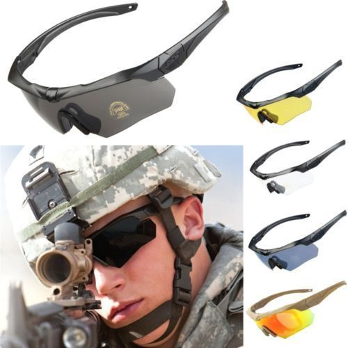 79ee9af73cd ESS CROSS military Goggles 5 Lens +Box Ballistic Tactical Sunglasses with