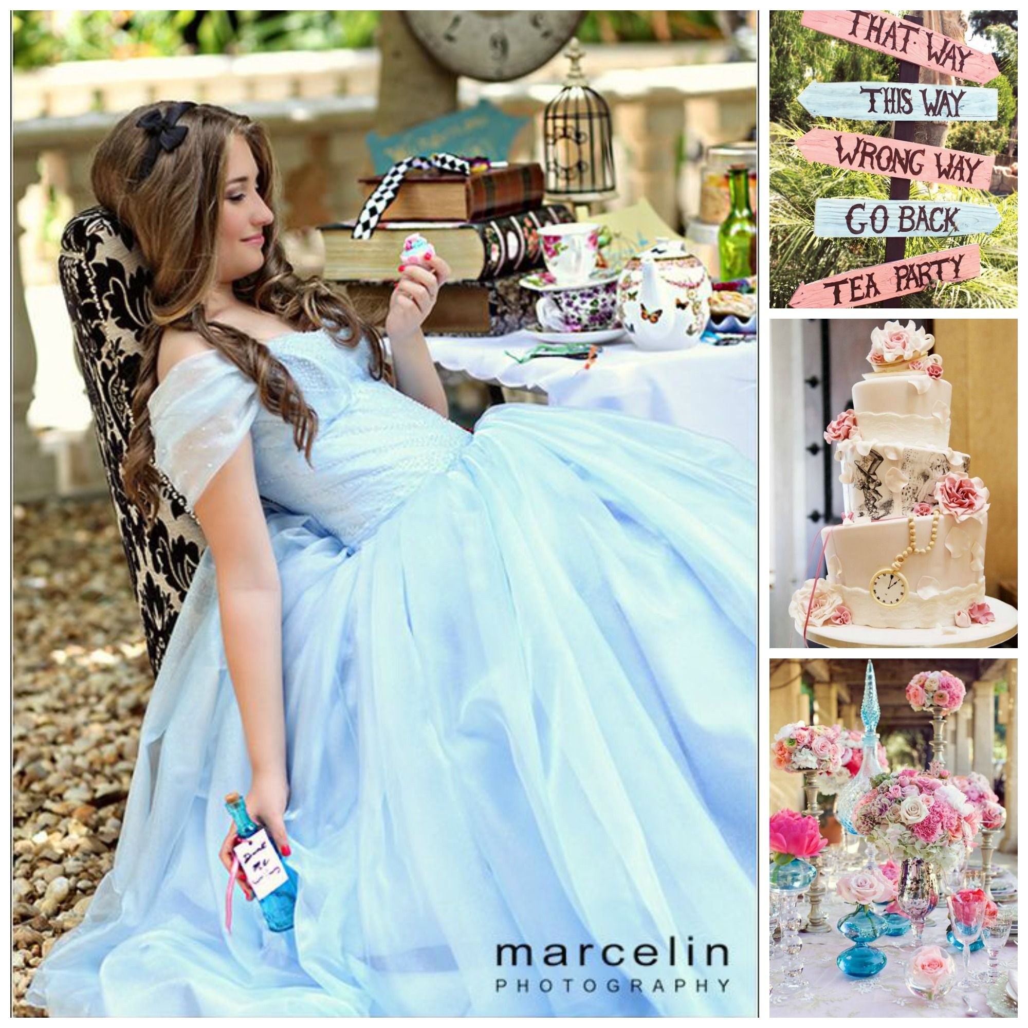 Quince Theme Decorations Alice In Wonderland Dress Quinceanera Themes Quince Themes