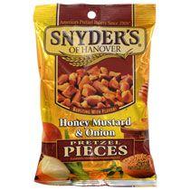 Snyder's of Hanover Honey Mustard & Onion Pretzel Pieces, 3.5-oz. Bags
