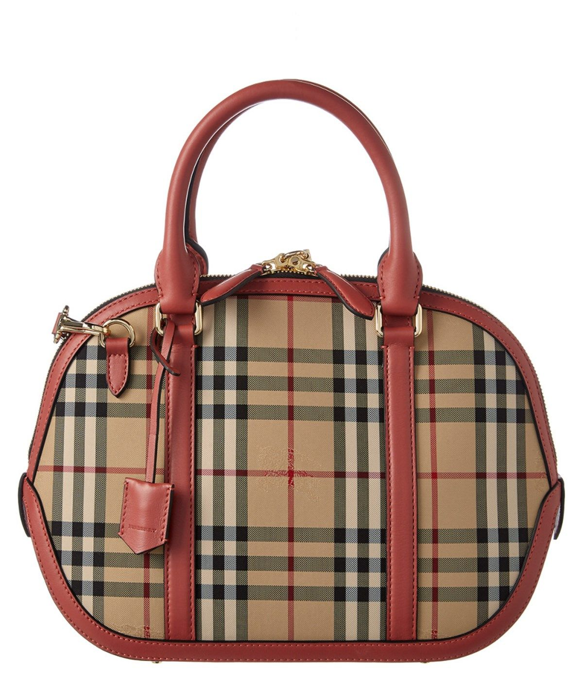e7da50c879e3 BURBERRY Burberry Orchard Small Horseferry Check  Amp  Leather Bowler .   burberry  bags  shoulder bags  hand bags  canvas  leather  lining