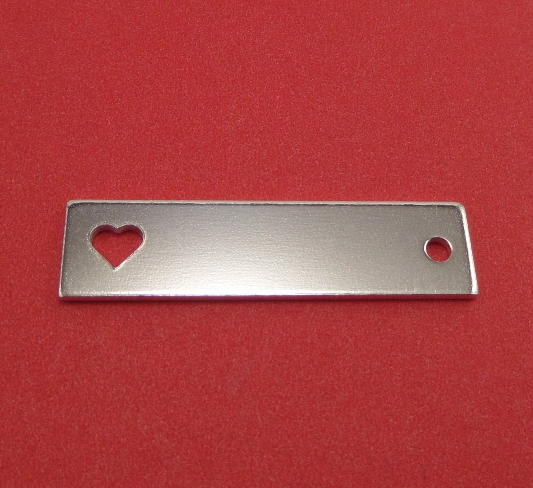 10 Square With Heart Blanks 1 2 X 2 14 Gauge Polished With 3mm Hole 3003 Aluminum 13mm X 51mm Heart Is H In 2020 Metal Stamping Supplies Metal Stamping Stamping Tools