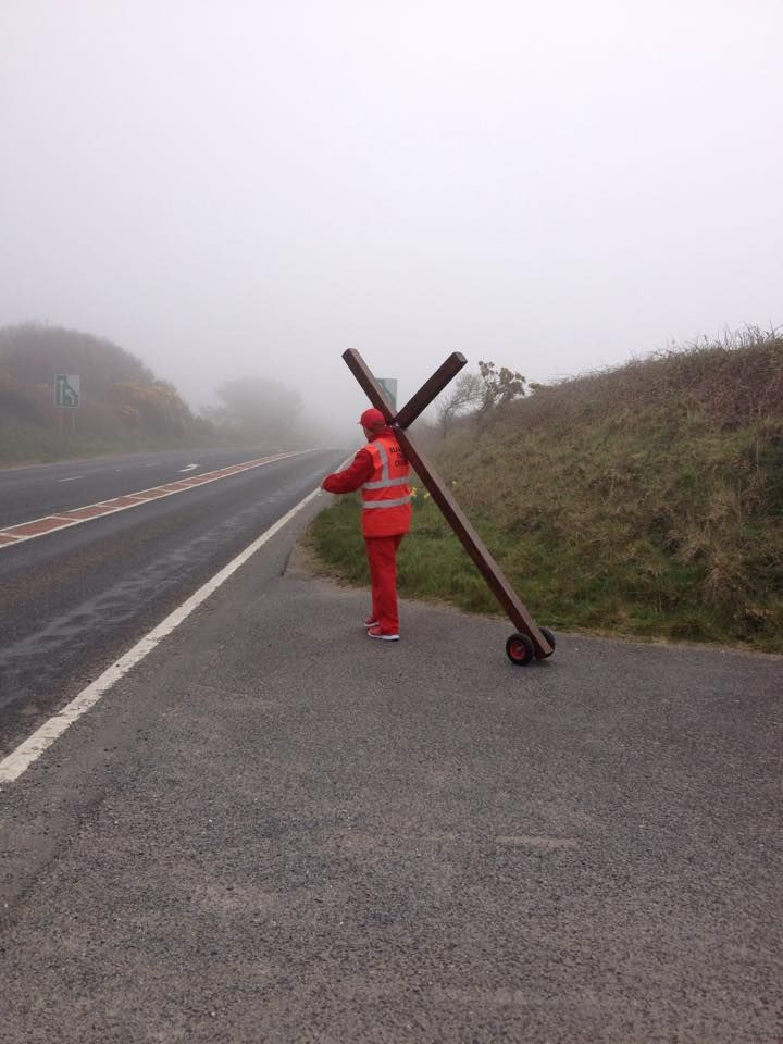 Bearing the Cross in the fog