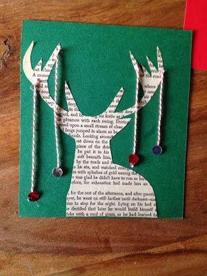 tarjeta navideña hecha a mano tarjetas Pinterest Tarjeta