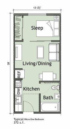 70 Ideas Home Studio Quarto Pequeno Small Apartment Plans Studio Apartment Floor Plans Tiny House Floor Plans