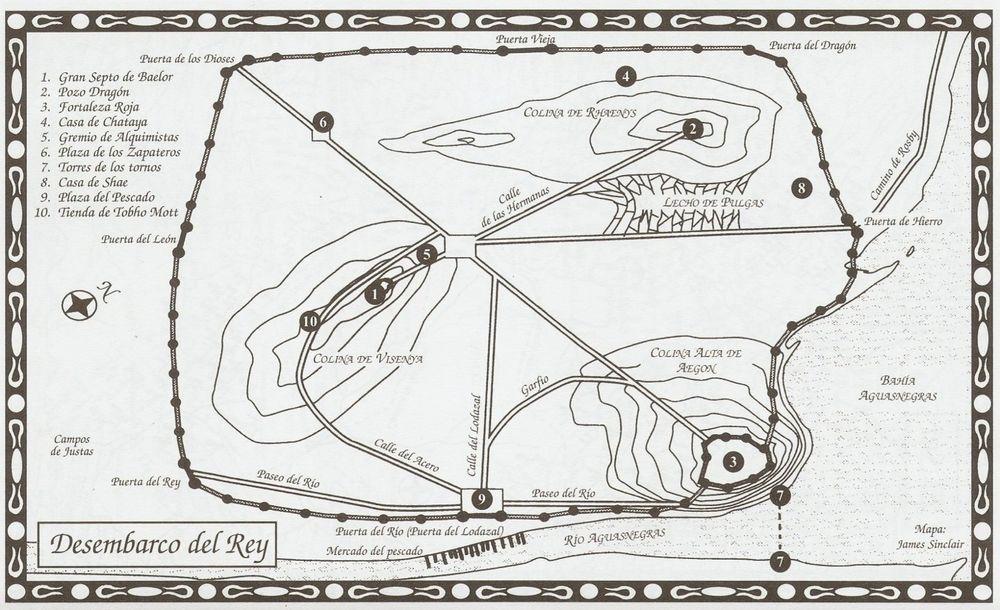 Choque De Reyes Mapa Desembarco Del Rey Mapa Juego De Tronos Choque De Reyes Juego De Tronos Libros