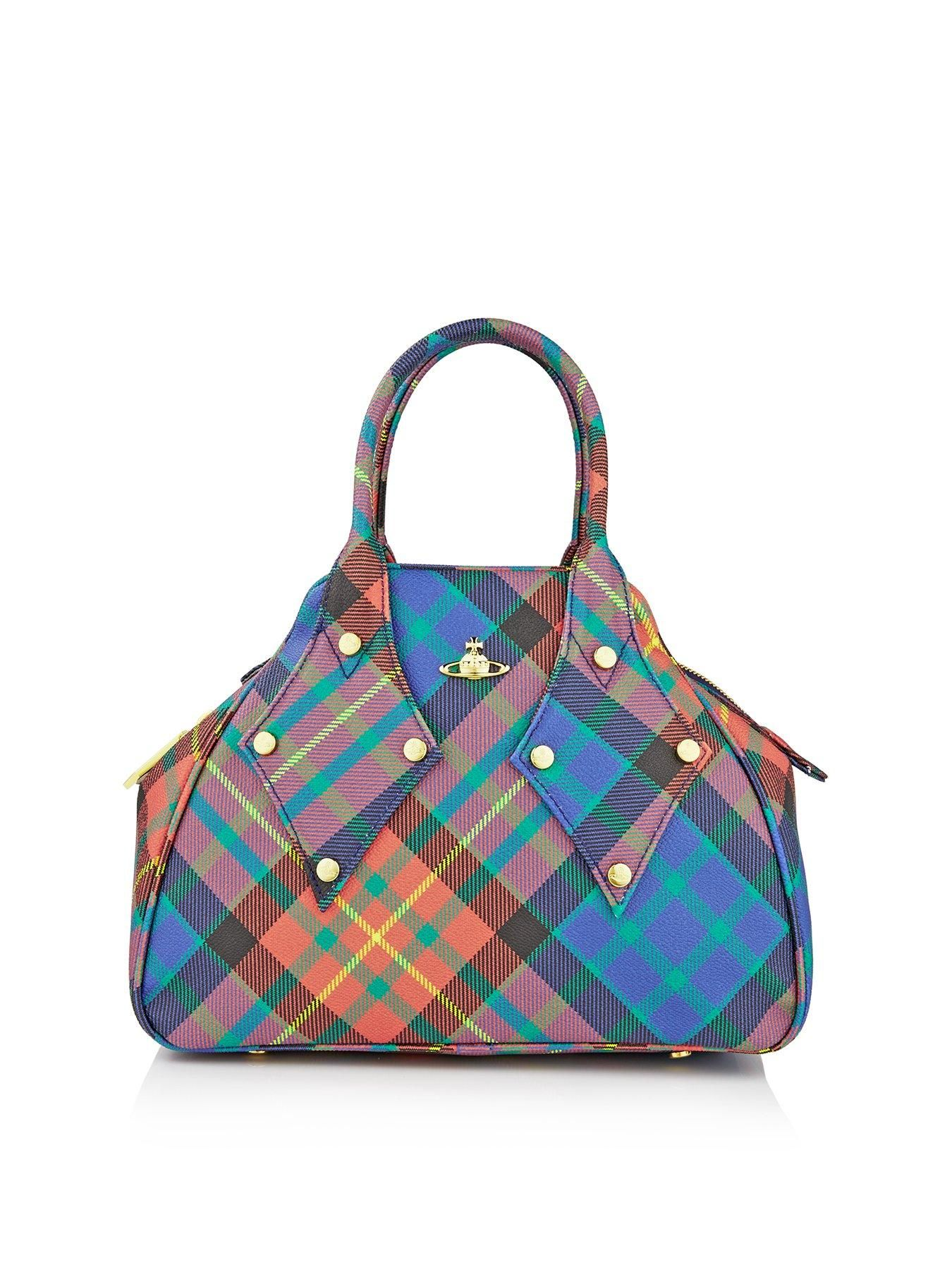 Westwood Vivienne gingham and flower bag