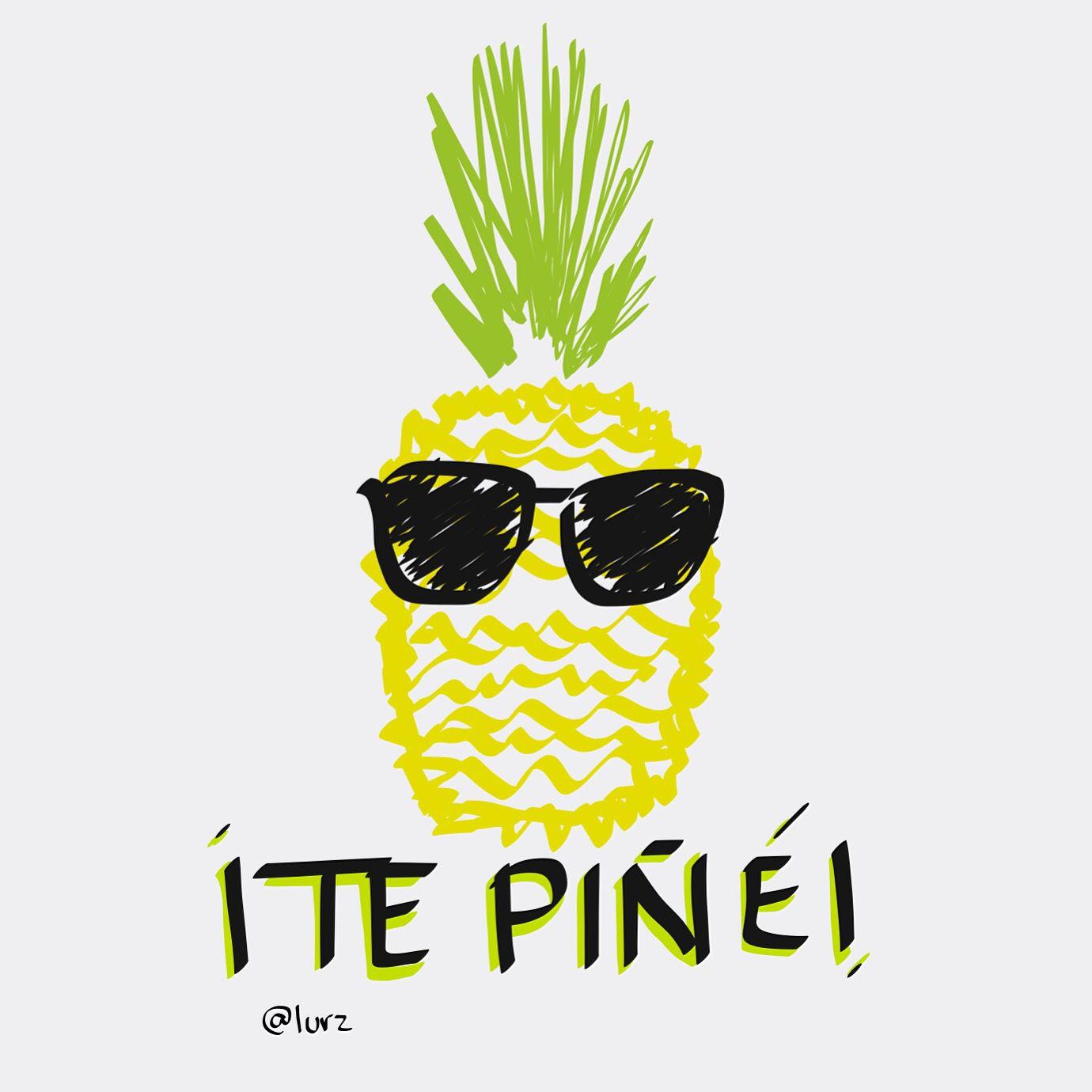 Pineapple in sunnies! Piña en gafas oscuras! Te piñé! Doodle!