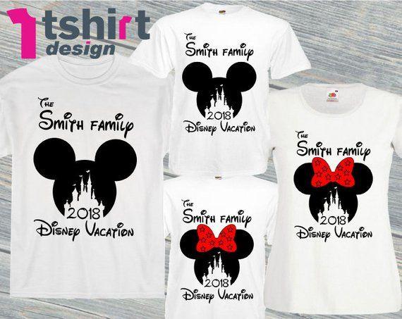a2f7d552 Custom family vacation disney shirts. Disneyland family t-shirts. Family  Mickey and Minnie. Disney v