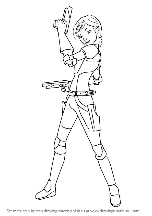 Learn How to Draw Sabine from Star Wars (Star Wars) Step by Step : Drawing Tutorials Drawings