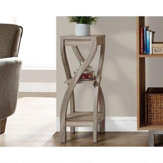 Table Haute Decorative Taupe Foncee 158 00 Mobilier De Salon Table Haute