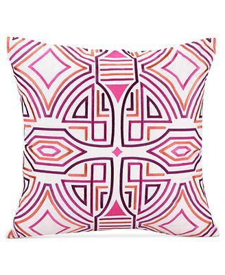 "CLOSEOUT! Trina Turk Ikat Purple 20\"" Square Decorative Pillow"