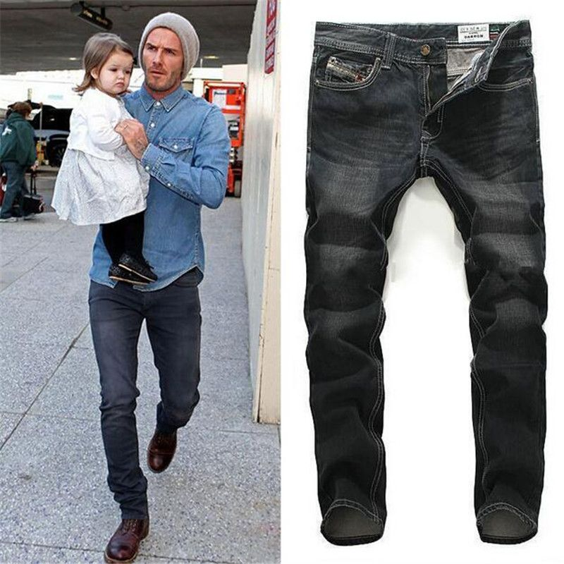 New Famous Brand Mens Black Jeans Same Celebrity Top Quality Men ...