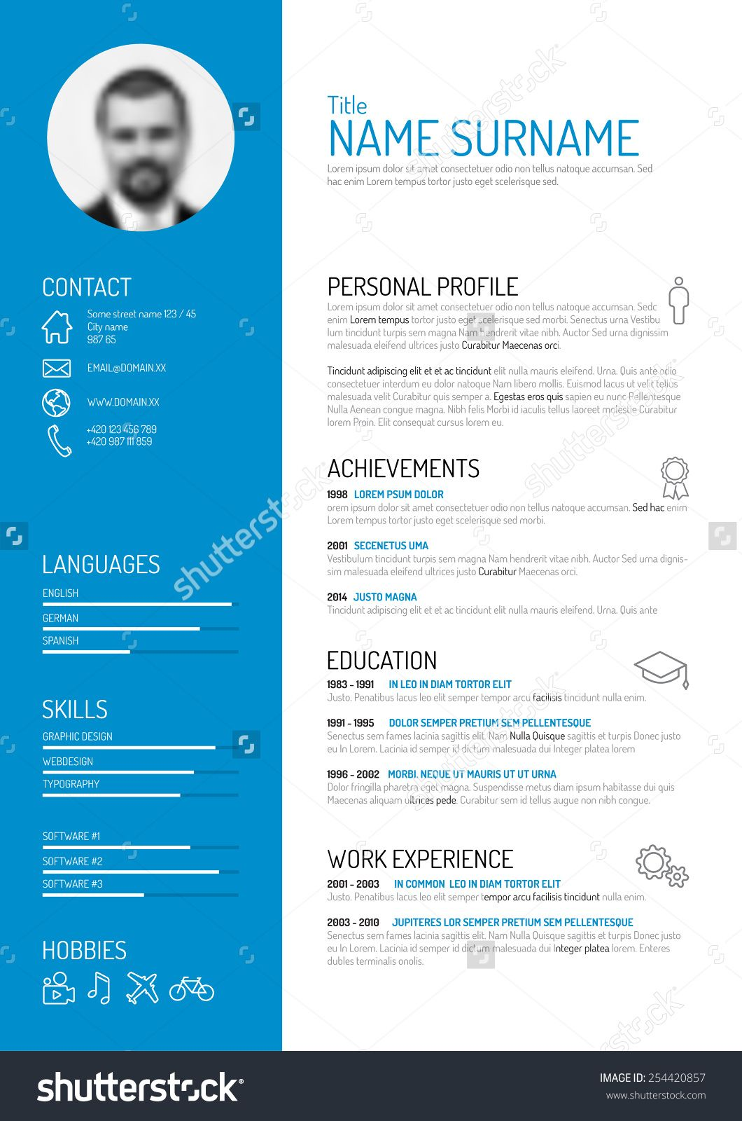 Templates For Curriculum Vitae Curriculum Vitae Icons  Google Zoeken  Templates  Pinterest