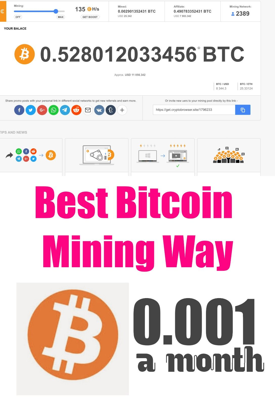 how to earn bitcoin by mining