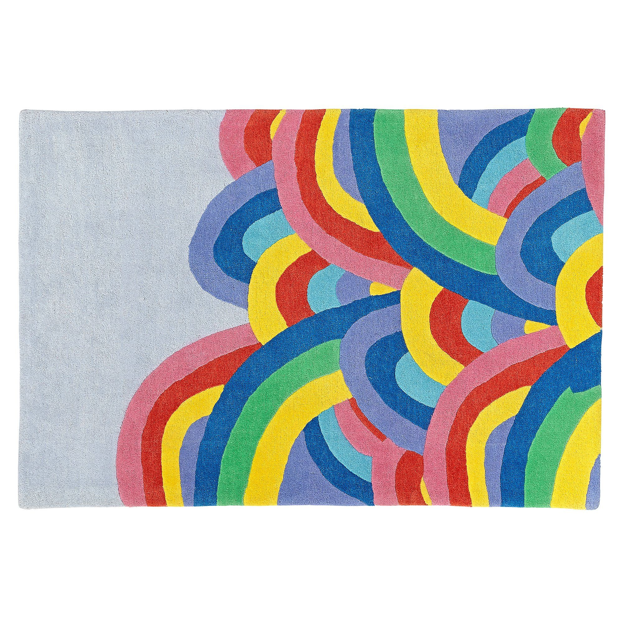 Children's Floor Rugs Over The Rainbow 4 X 6 Rug The Land Of Nod Kids Rug Kids
