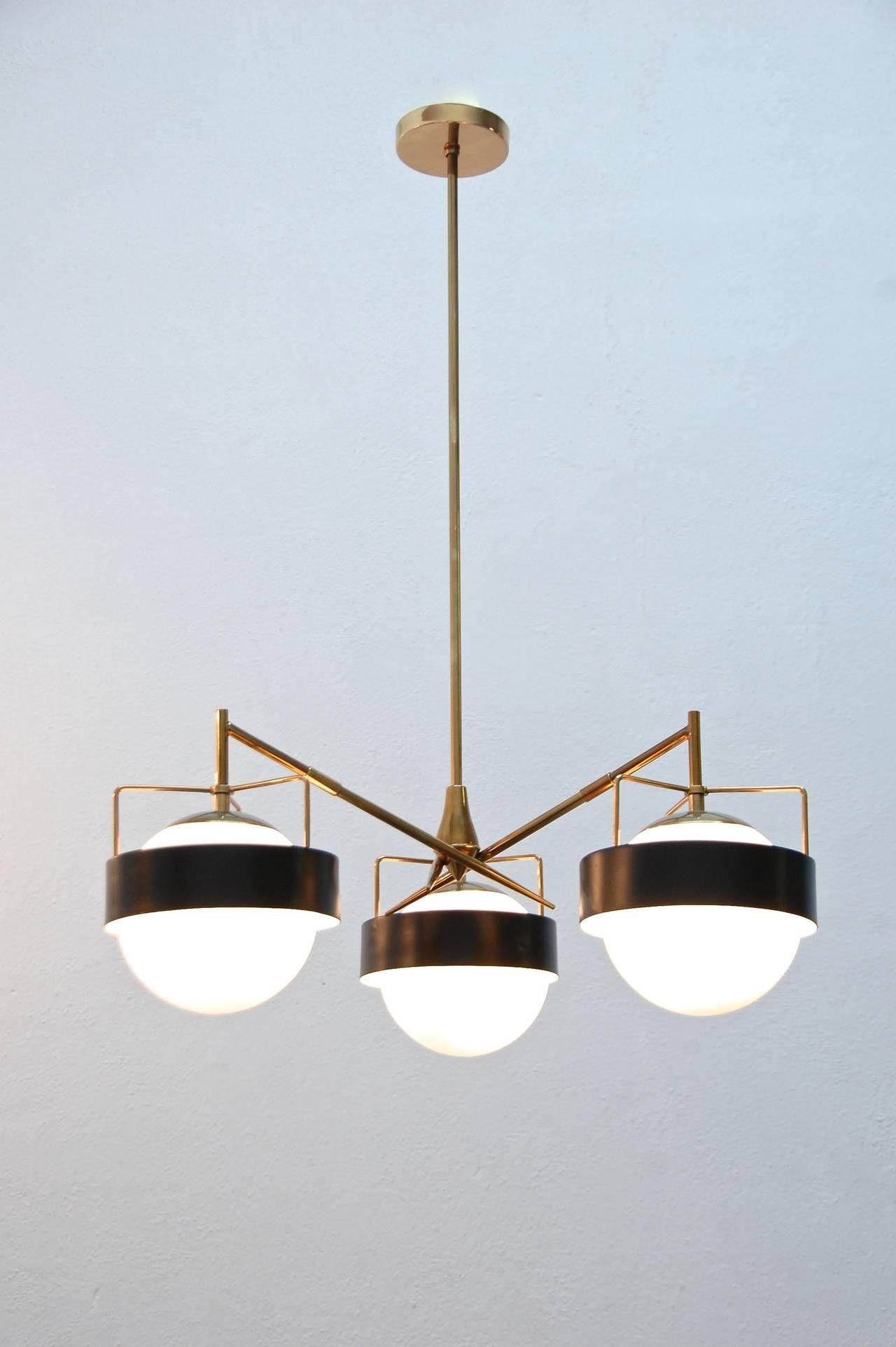 1950s Italian Saturn Chandelier  Contemporary Lighting