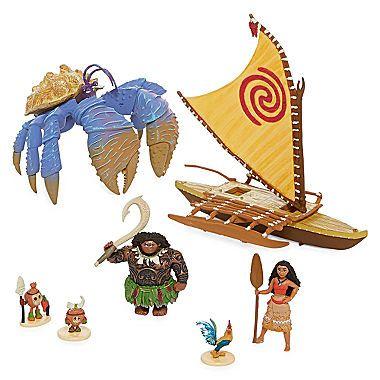 Disney MOANA Maui The Demigod/'s Kakamora Adventure /& Moana Canoe SET