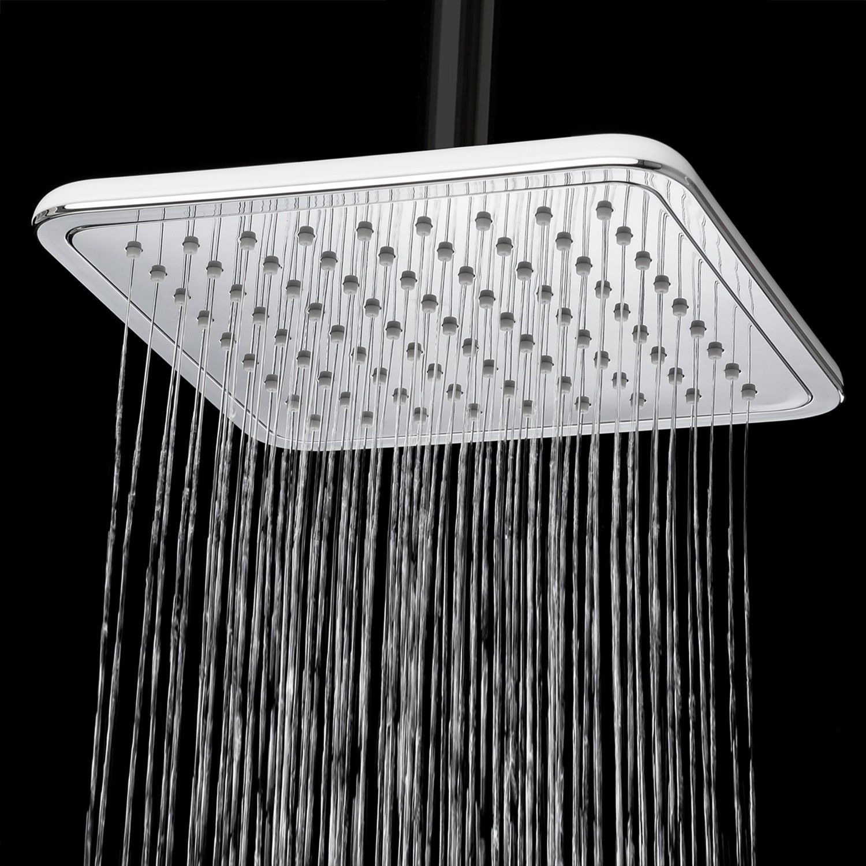 Rainfall Shower Head Square Water Saving Contemporary Slimline