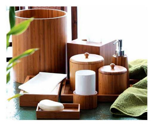 Love White Linens With Bamboo Materials Spa Bathroom Decor