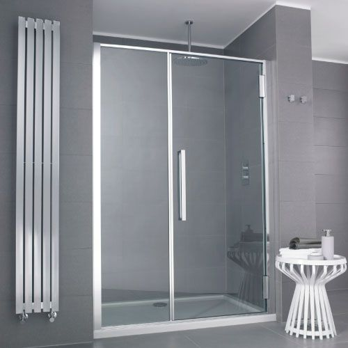 Glasshouse 1400mm Hinged Shower Door With Images Glass House Shower Doors Sliding Shower Door