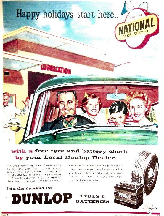 1959 Australian Auto Advertising Free tire, Unique cars