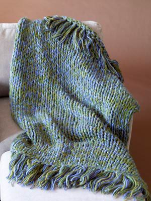 Fast Finish Knit Throw Pattern Using 5 Strands Of Bulky Weight Yarn