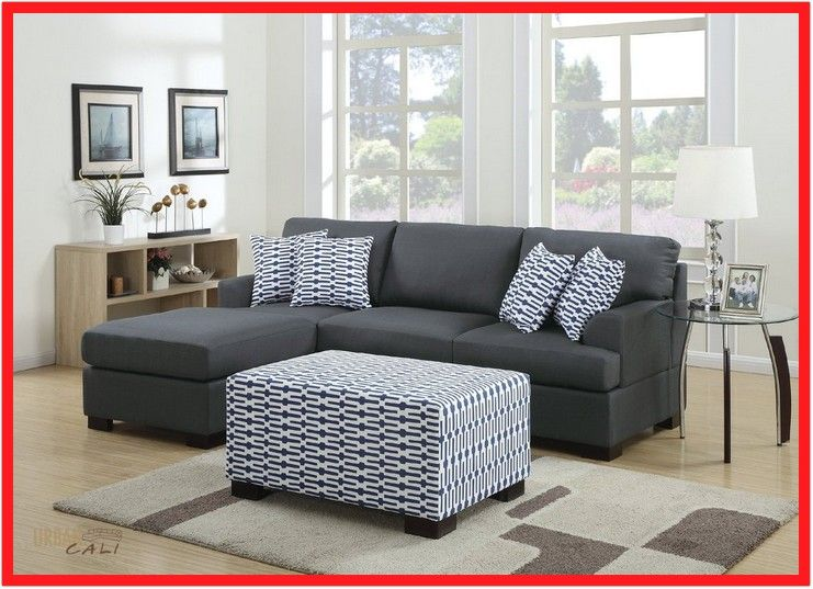 Small Black Sofa With Chaise In 2020 Small Sectional Sofa