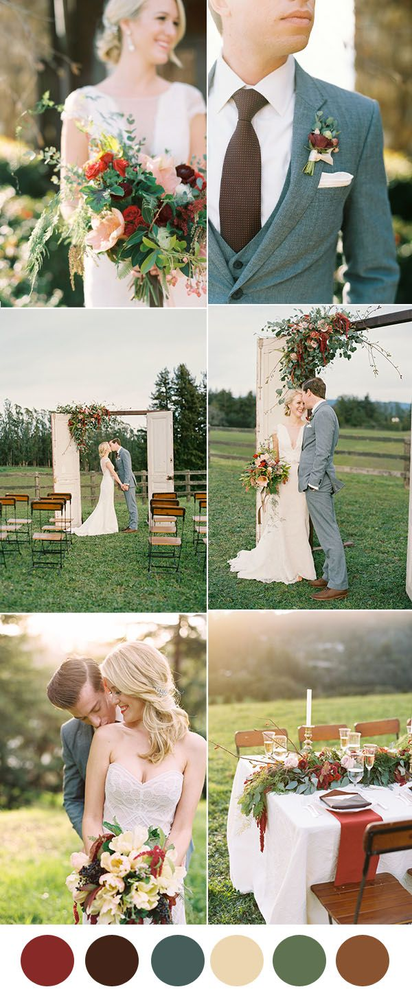 40 Rustic Wedding Ideas With Elegant Details Elegantweddinginvites Com Blog Vintage Wedding Colors Wedding Colors Rustic Vintage Wedding