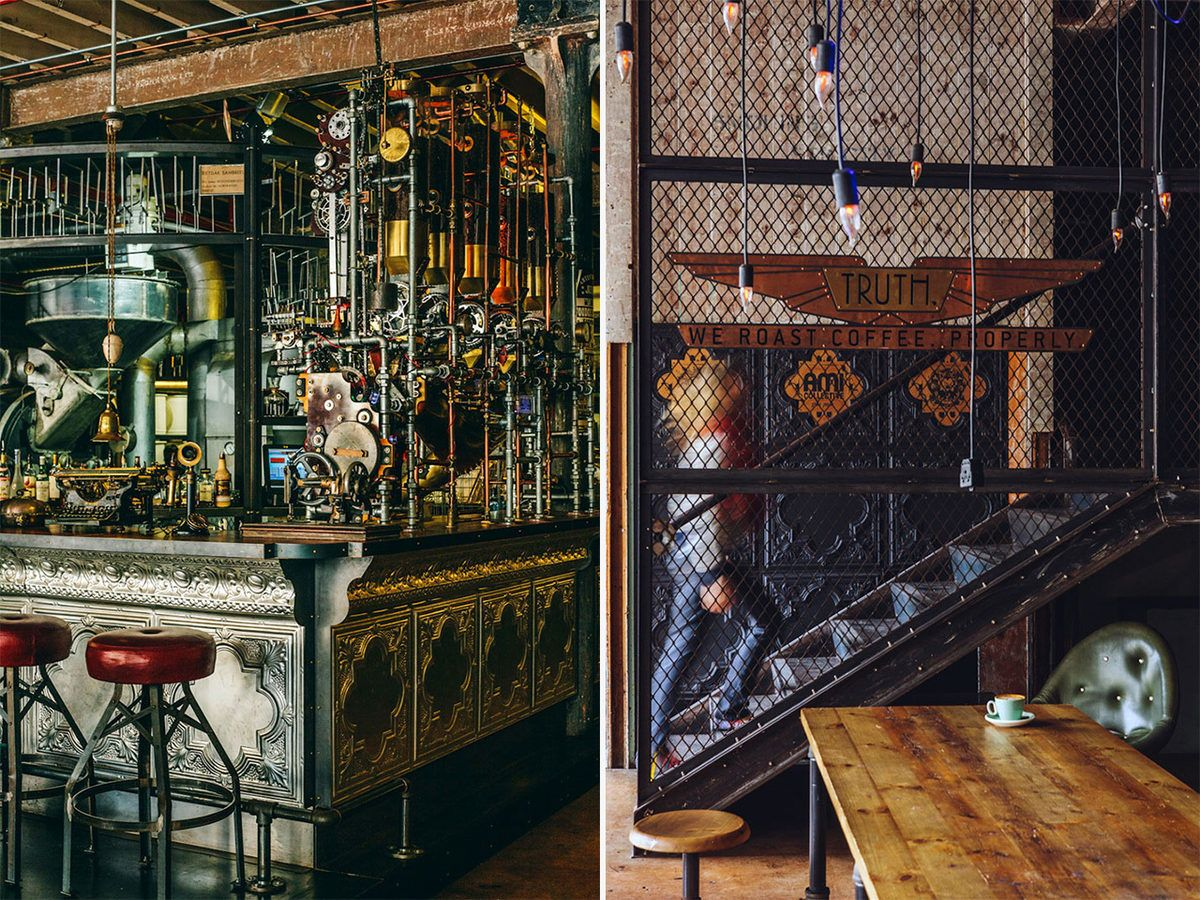 Steampunk Interior Design At Truth Cafe In