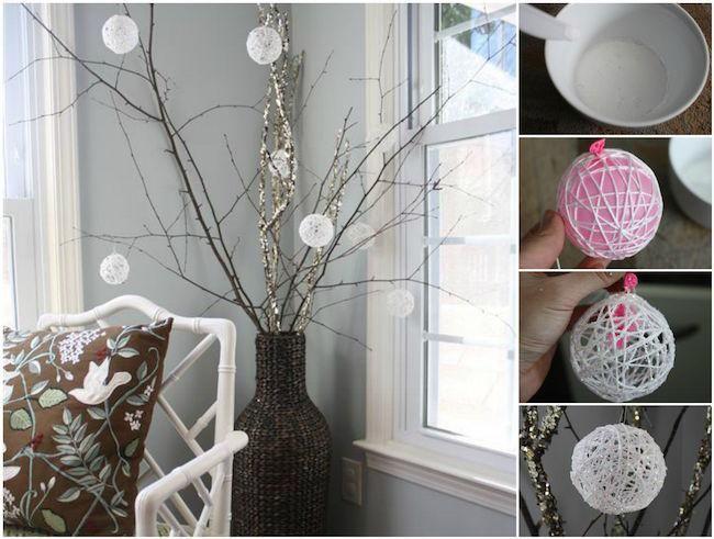 cmo hacer bolas de navidad brillantes para adornar tu casa