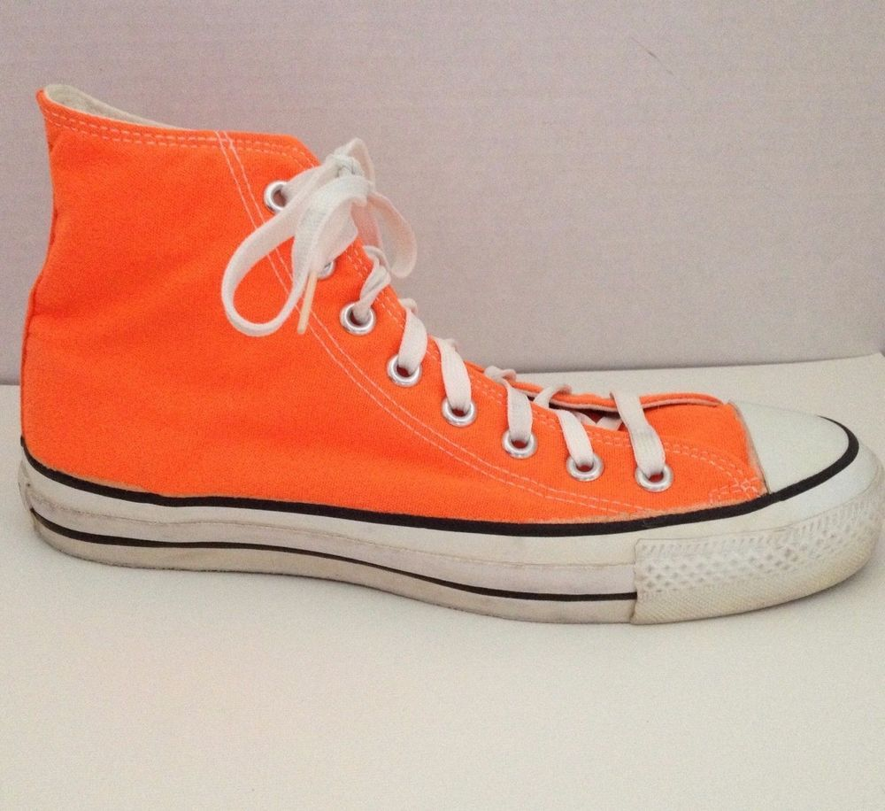 e8d19af603a Converse Chuck Taylor Sneakers Mens Size 7.5 All Star Made in USA Hi Tops  Orange  Converse  Athletic  Casual