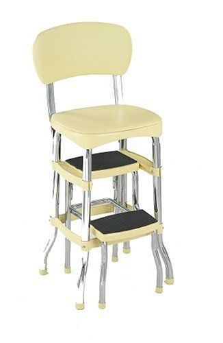 Stupendous New Cosco Yellow Retro Counter Chair Step Stool Folding Ncnpc Chair Design For Home Ncnpcorg