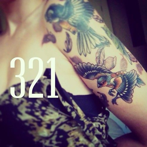 Bird 1 3rd Sleeve Just Ink Tattoo Machine Ink Tattoo