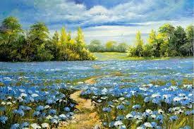 Resultado de imagem para painel de paisagem de flores de cerejeira