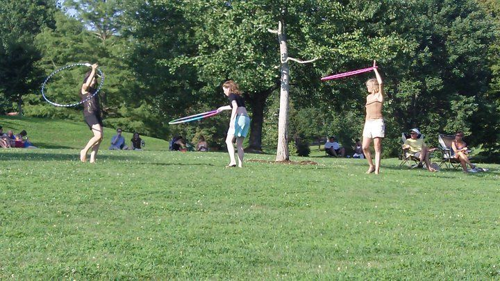 Hoopers enjoying the music in the park