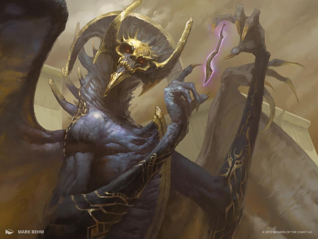 Magic the gathering art demon