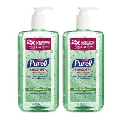Purell Refreshing Aloe Hand Sanitizer 2ct 33 8oz Hand