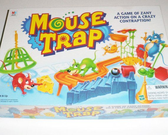 Vintage Mouse Trap Game by Milton Bradley Complete and Excellent Condition 1990s #mousetrap