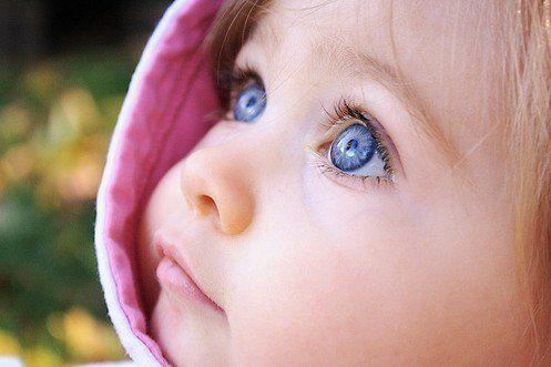 Blue Eyes Blonde Hair Pink Lips Dark Skin Beautiful Baby Girl