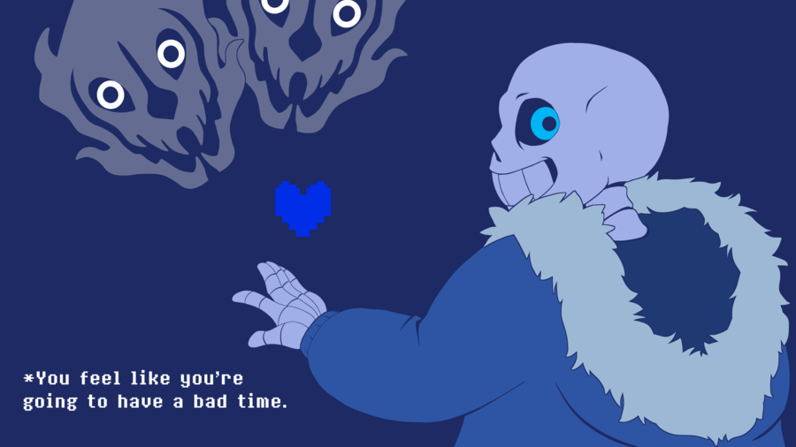Sans Is Giving You A Bad Time Wallpaper Edition By Theprotobabe On Deviantart Undertale Beautiful Wallpapers Backgrounds Wallpaper