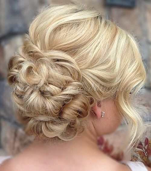 Medium Length Curly Hairstyles For Weddings: Wedding+hairstyles+for+medium+length+hair+-+low+bun