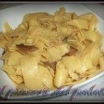 Fettuccine ai funghi porcini - this is yummy, if you know fungi porcini !!