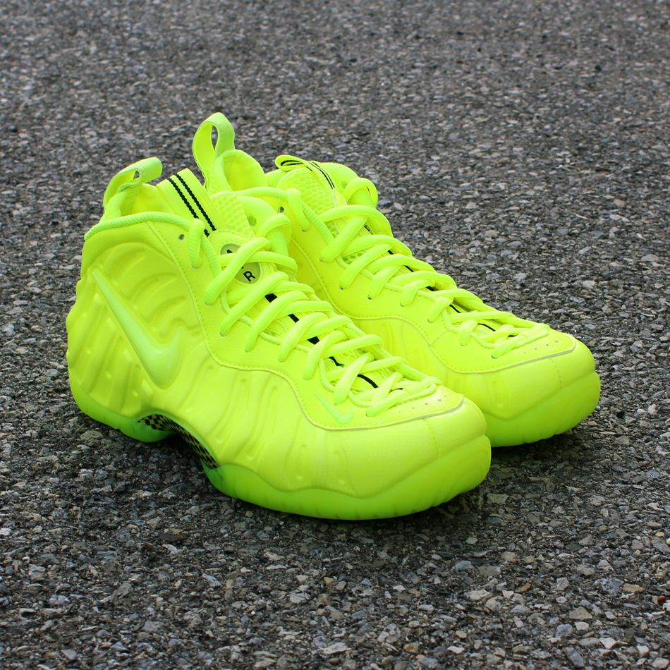 new concept 62967 c0cd0 Bright neon volt green Nike Air Foamposite Pro designed for style and  function as well as the basketball court.