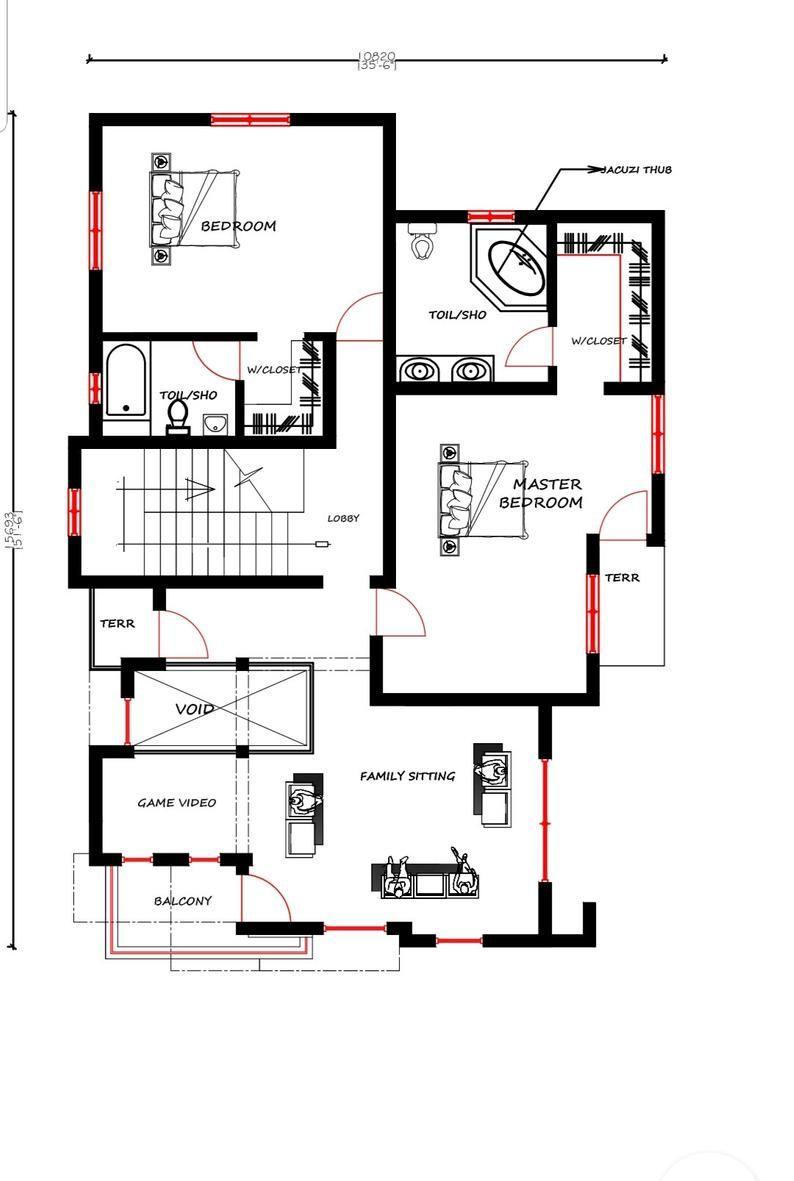 3 Bedroom Duplex House Plan Modern Home Design House Floor Plans Tv Shows Floor Plan In 2021 Duplex House Plans Modern House Floor Plans Modern Floor Plans