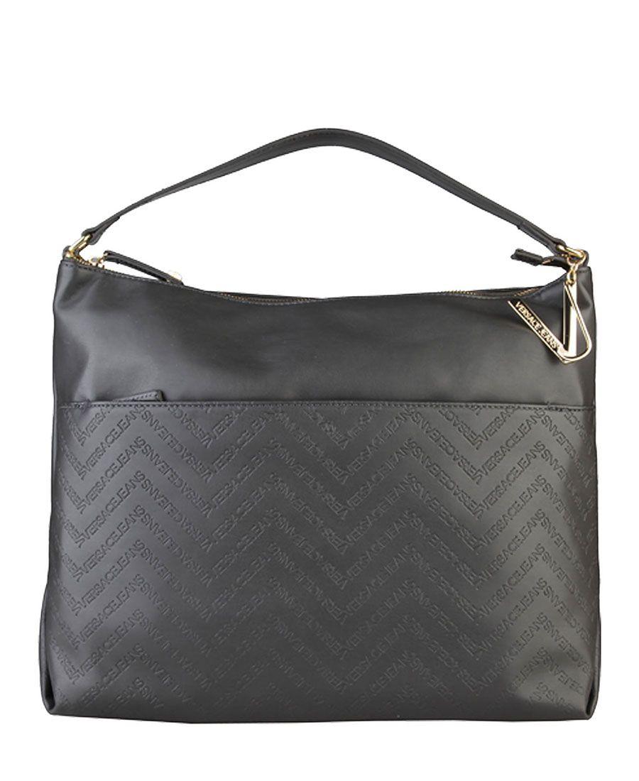 black versace jeans handbag with applied logo buy popular e7799 ... b28502b8bd2