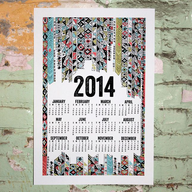 Infographic Wall Calendar By Liz Carver Design  Via